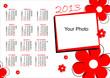 Calendario 2013 fiori Rossi