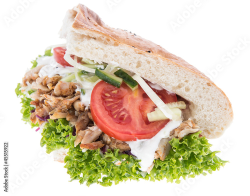 Kebab isolated on white