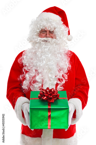 Santa Claus giving you a gift