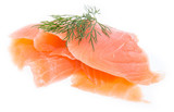 Heap of Salmon on white