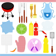 Vector Icons: set of Barbecue / Grill (BBQ) theme