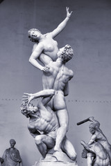 The Rape of the Sabine Women in Florence, Italy