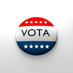 voter button in spanish with stars