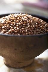 Buckwheat in a dish