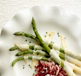 Asparagus Salad with Melted Cheese