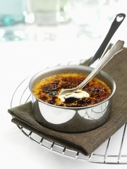 Creme brulee in a pot