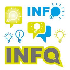 Information Glühbirne Idee Energie