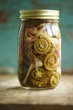 Jar of Pickled Fiddleheads
