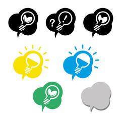Glühbirne Energie Idee Icons