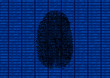 Digitaler Fingerabdruck schwarz
