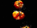 Tomatoes in hot oil