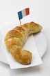 Croissant with French flag