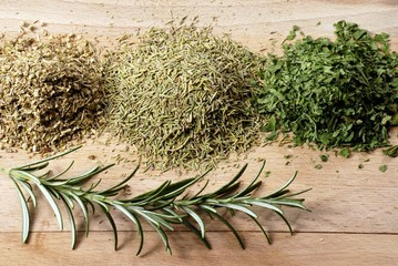 Still life with dried herbs