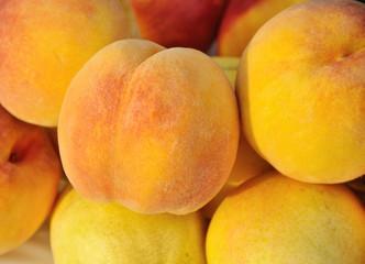 peaches close-up