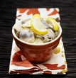 Bowl of Pickled Herring with Lemon