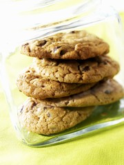 Peanut Butter Chocolate Chip Cookies in a Glass Jar