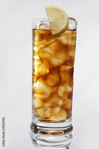 A glass of iced tea