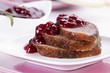Roast goose breast and cranberry sauce