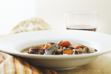 Bowl of Boeuf Bourguignon (Beef Burgundy)
