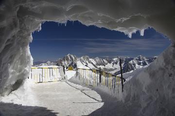 Ice cave at Aguille Du Midi,Mont Blanc