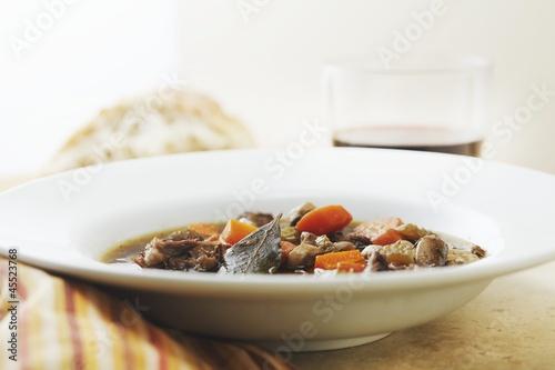 Bowl of Boeuf Bourguignon (Beef Burgundy)