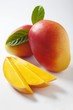 Mango slices and whole mangos