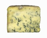 A slice of Stilton cheese