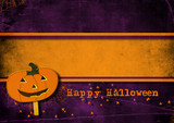Halloween greeting card.
