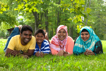 Outdoor Portrait of a indian family