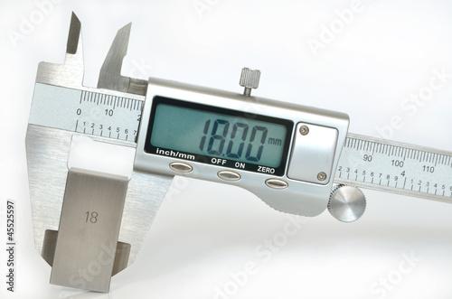 Leinwandbild Motiv Electronic digital caliper