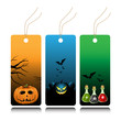 Halloween tags with pumpkins