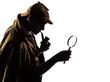 Leinwanddruck Bild - sherlock holmes silhouette