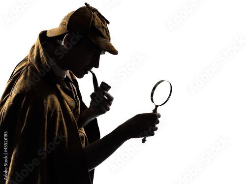 sherlock holmes silhouette - 45526193