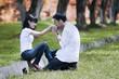 Lover kissing hand