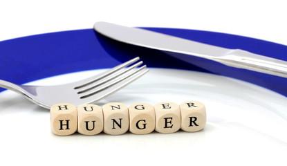 Hunger / Essstörung / leerer Teller