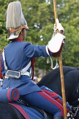 Guardia montado a caballo en desfile