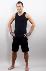 Mann in Sport Kleidung