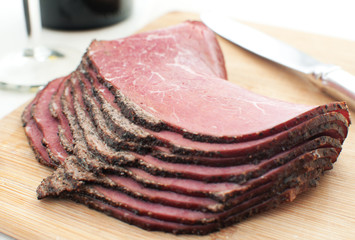 Sliced deli beef snack