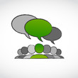 environment volunteer speech bubble