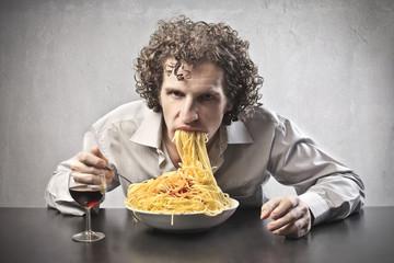 Gorging of Spaghetti