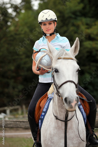 Portrait of a horseback rider