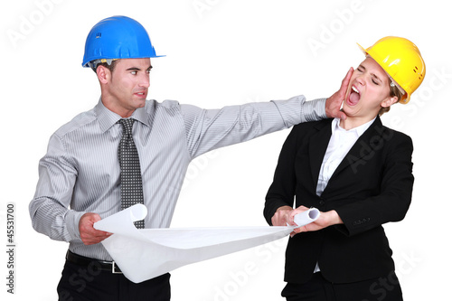 Engineer jealous of his female colleague