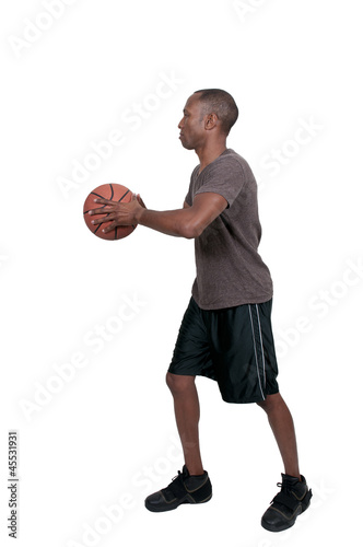 Black Man Basketball Player