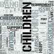 Childhood and Youth EnglishWord Cloud Concept