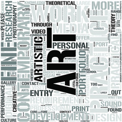 Contemporary FineArt Word Cloud Concept