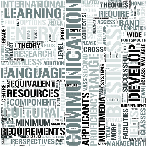 Communication and English EnglishWord Cloud Concept