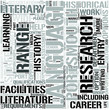 English Language and Literature Word Cloud Concept