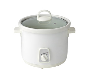 Rice cooking pot isolated