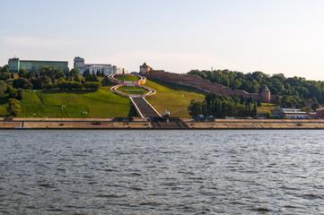 Вид на Нижний Новгород с реки