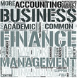 Finance and Management Word Cloud Concept